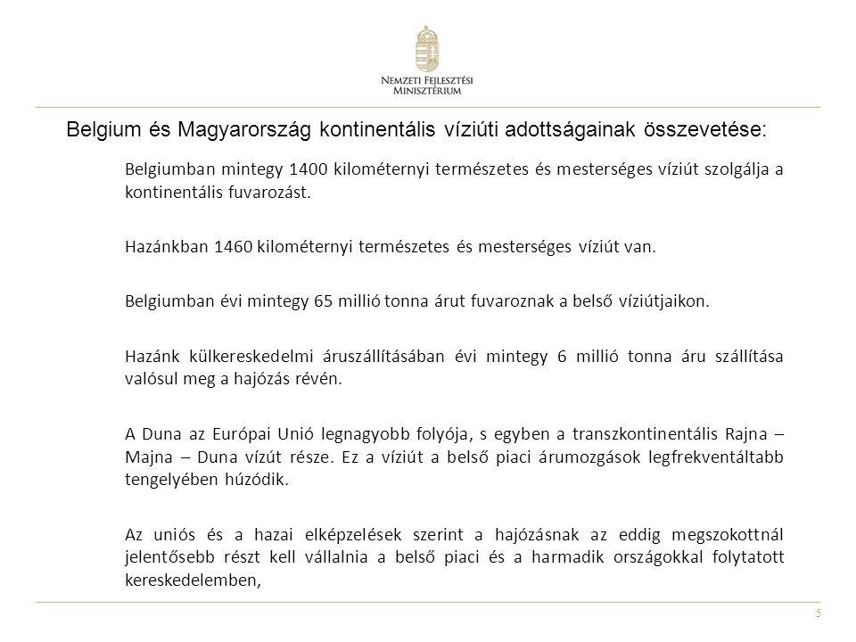 Belgium és Magyarország kontinentális víziúti adottságainak összevetése: