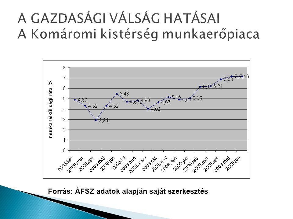 A GAZDASÁGI VÁLSÁG HATÁSAI A Komáromi kistérség munkaerőpiaca