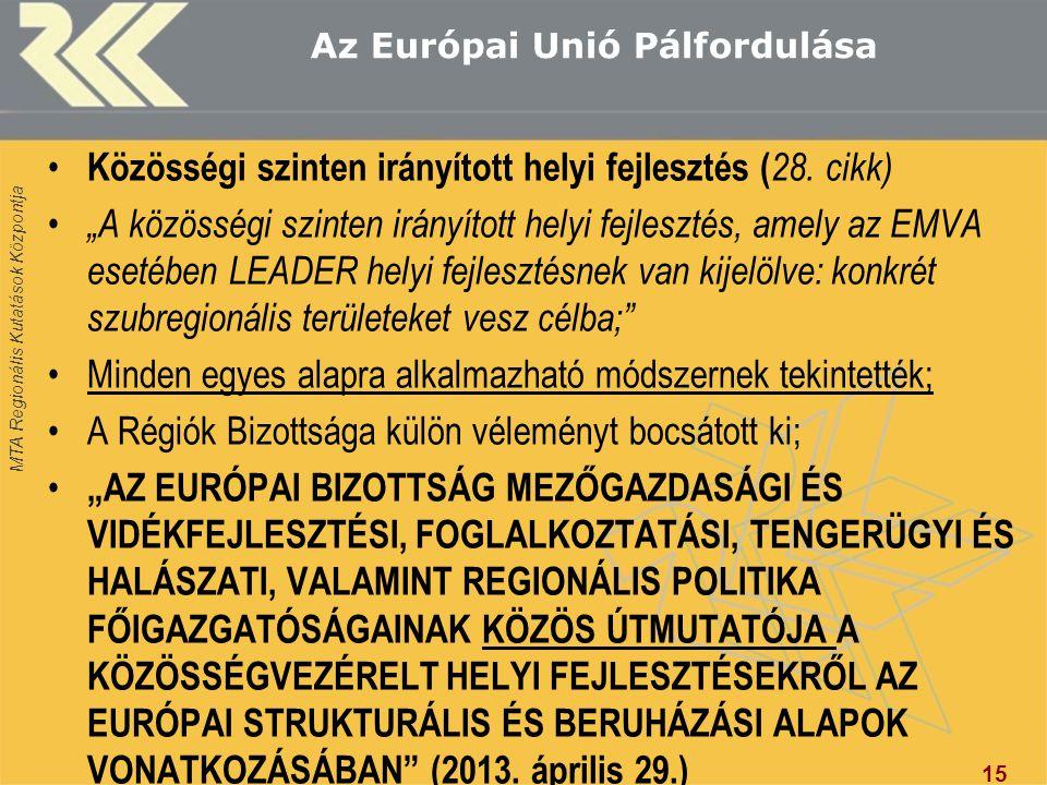 Az Európai Unió Pálfordulása
