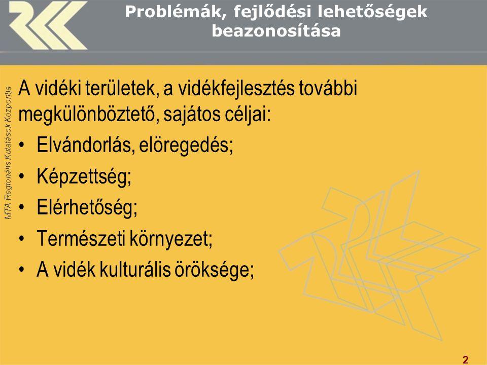 Problémák, fejlődési lehetőségek beazonosítása