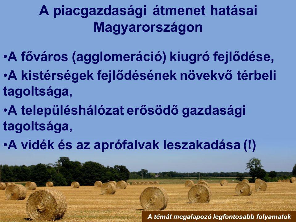A piacgazdasági átmenet hatásai Magyarországon