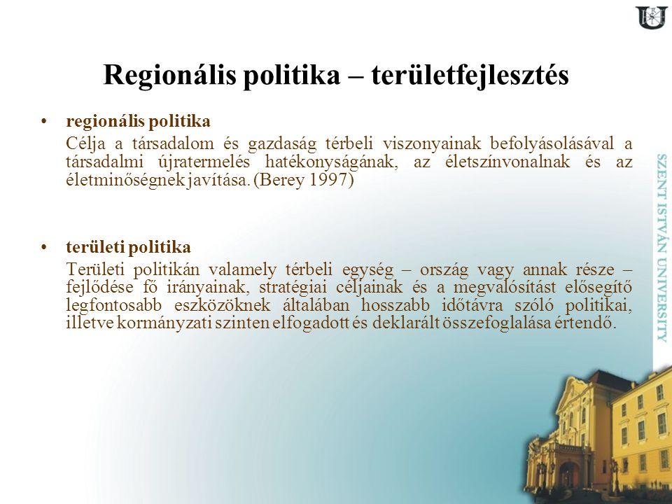 Regionális politika – területfejlesztés