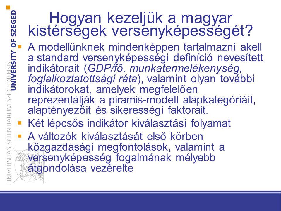 Hogyan kezeljük a magyar kistérségek versenyképességét