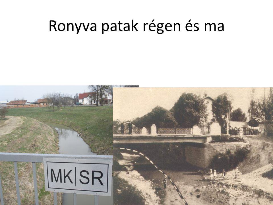 Ronyva patak régen és ma