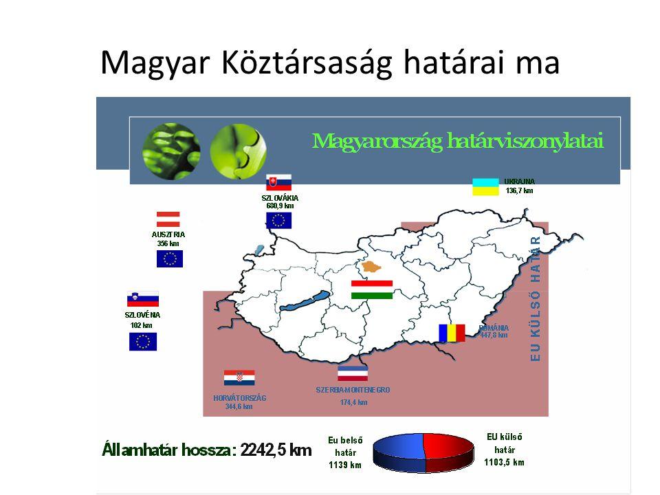 Magyar Köztársaság határai ma