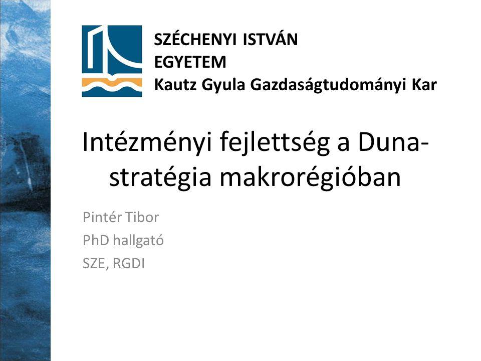Intézményi fejlettség a Duna-stratégia makrorégióban