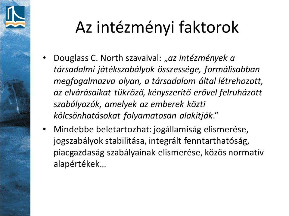 Az intézményi faktorok