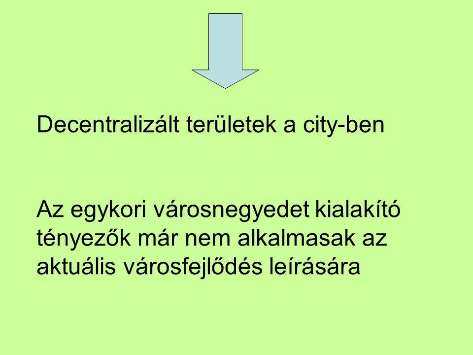 Decentralizált területek a city-ben