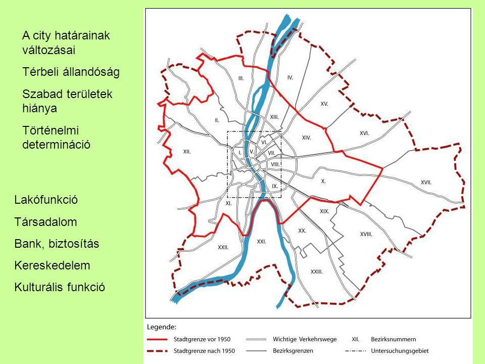 A city határainak változásai