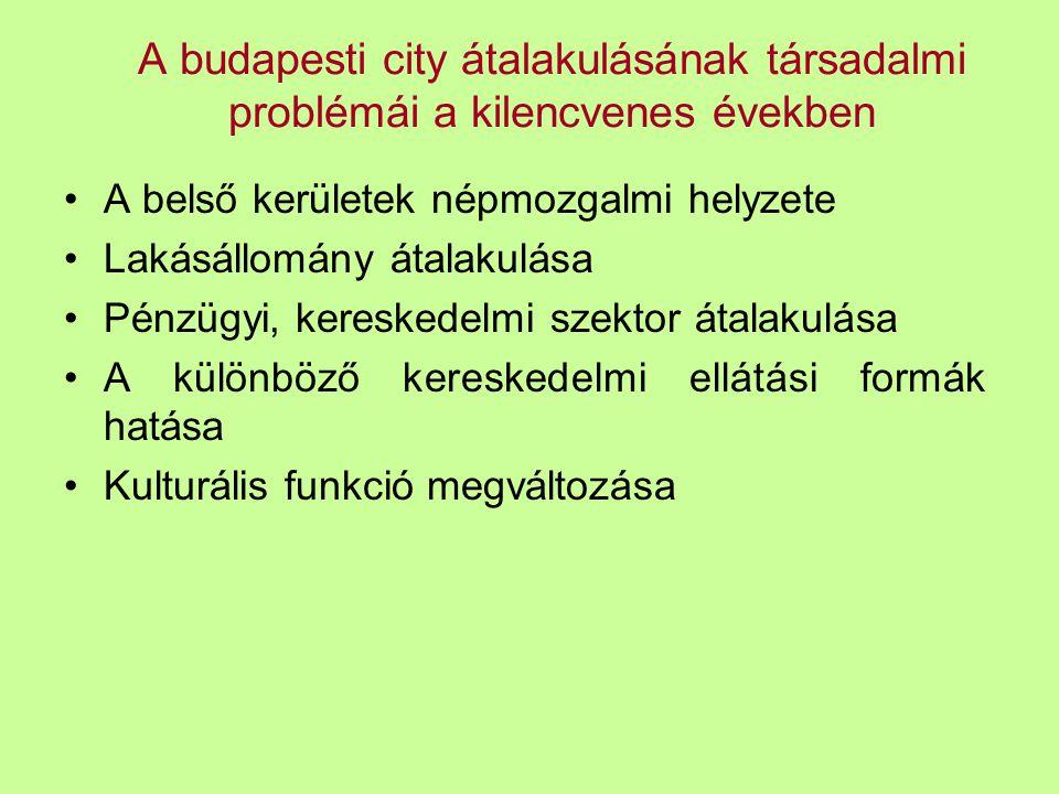 A budapesti city átalakulásának társadalmi problémái a kilencvenes években
