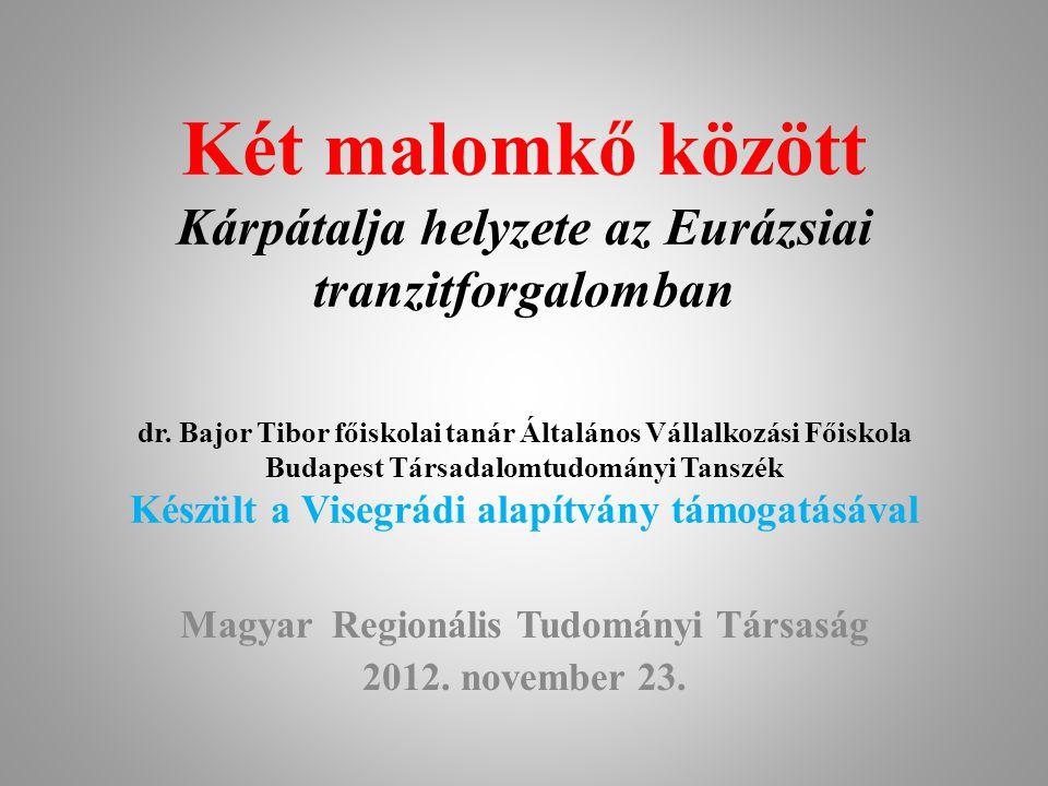 Magyar Regionális Tudományi Társaság 2012. november 23.