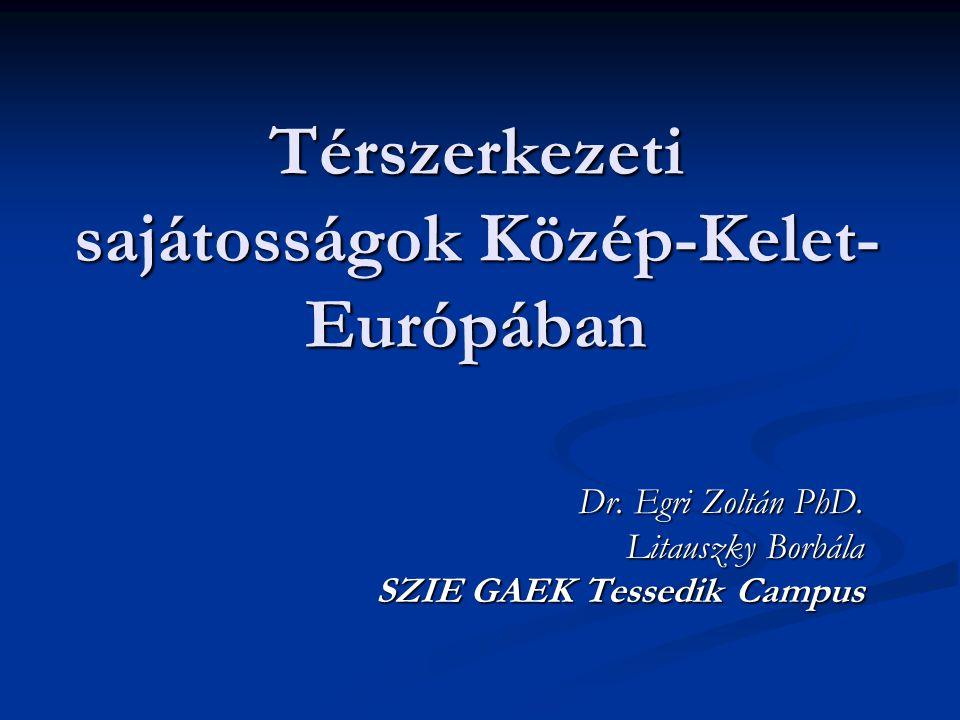Térszerkezeti sajátosságok Közép-Kelet-Európában