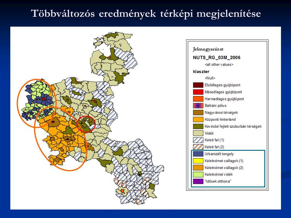 Többváltozós eredmények térképi megjelenítése