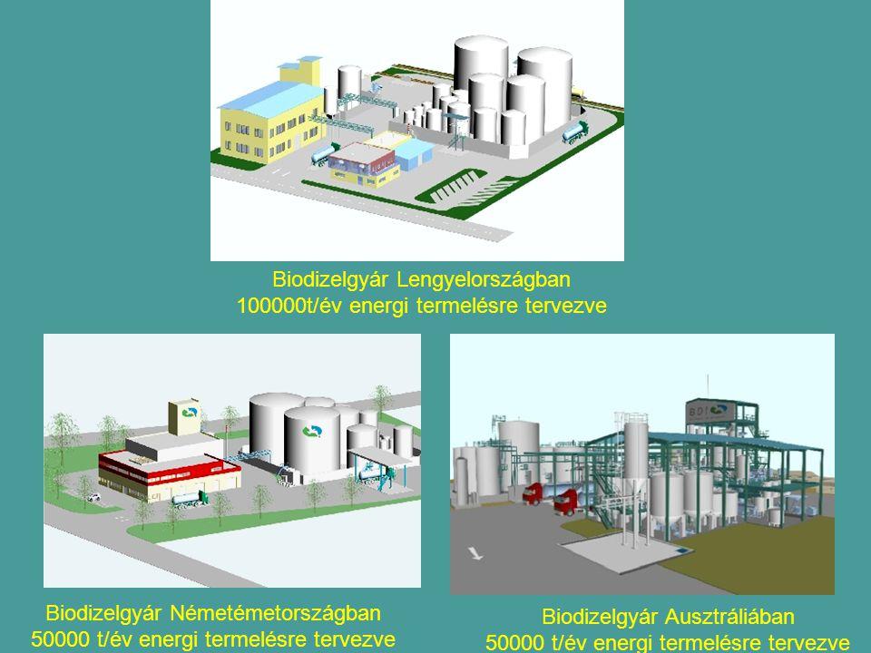 Biodizelgyár Lengyelországban 100000t/év energi termelésre tervezve
