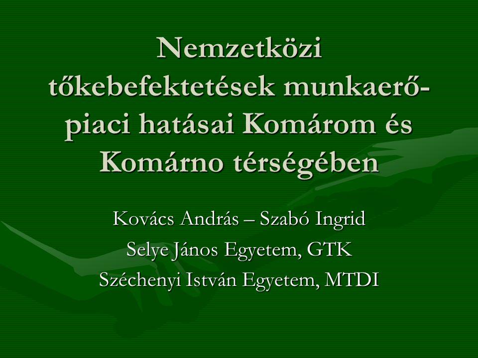 Nemzetközi tőkebefektetések munkaerő-piaci hatásai Komárom és Komárno térségében