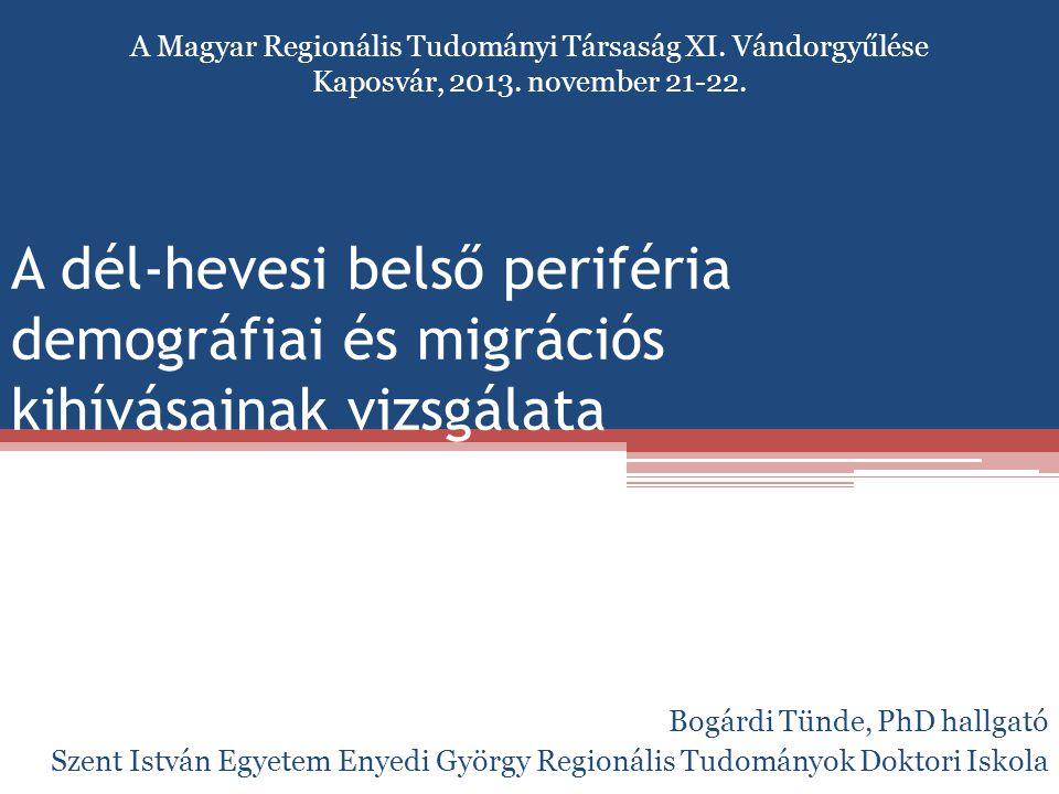 A Magyar Regionális Tudományi Társaság XI. Vándorgyűlése