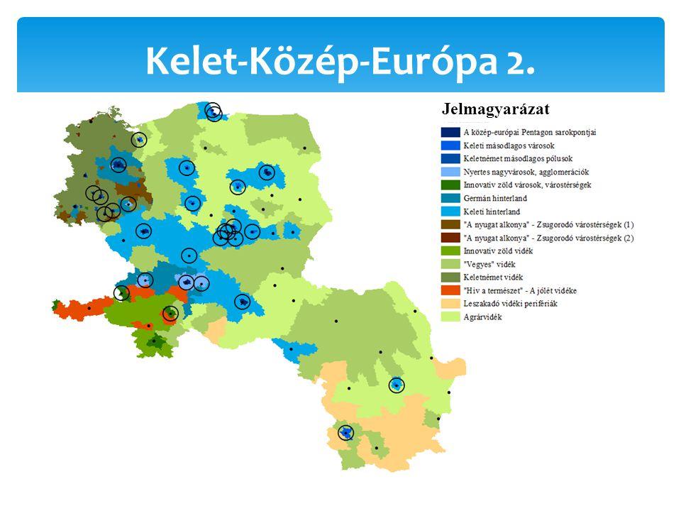 Kelet-Közép-Európa 2. Jelmagyarázat