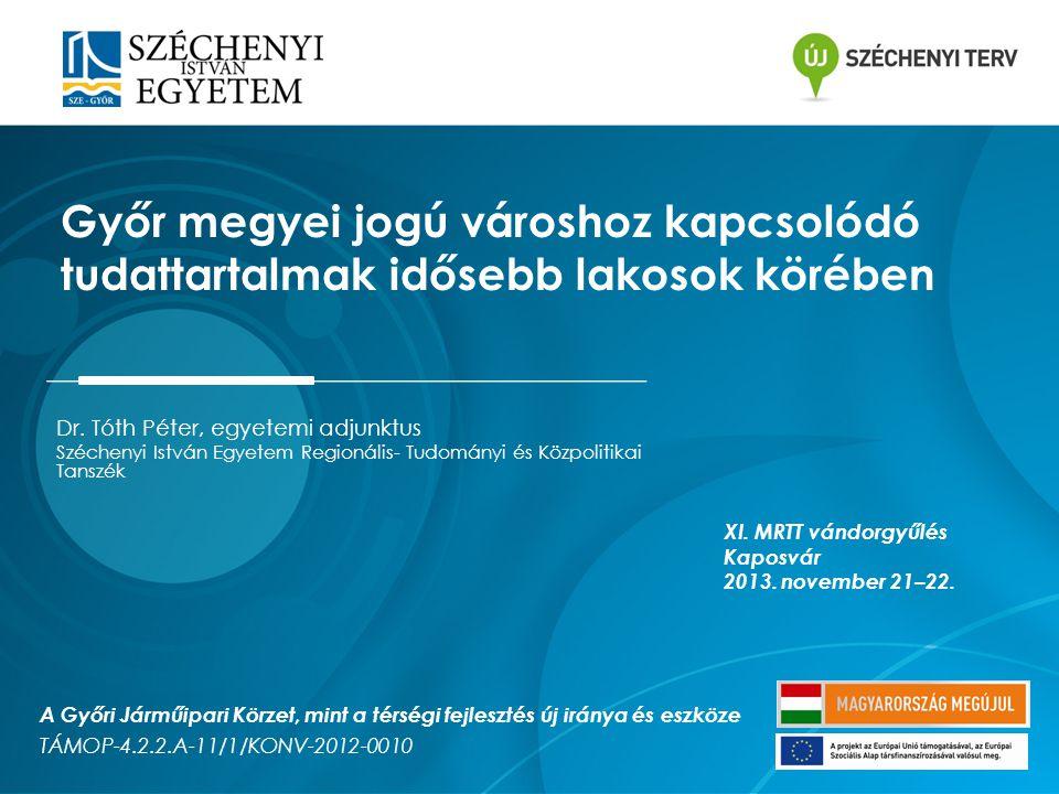 Győr megyei jogú városhoz kapcsolódó tudattartalmak idősebb lakosok körében