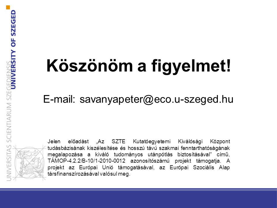 E-mail: savanyapeter@eco.u-szeged.hu