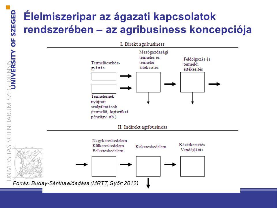 Élelmiszeripar az ágazati kapcsolatok rendszerében – az agribusiness koncepciója