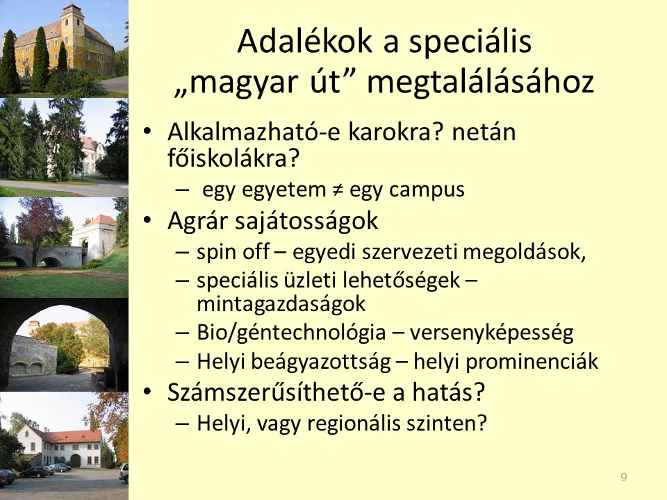 """Adalékok a speciális """"magyar út megtalálásához"""