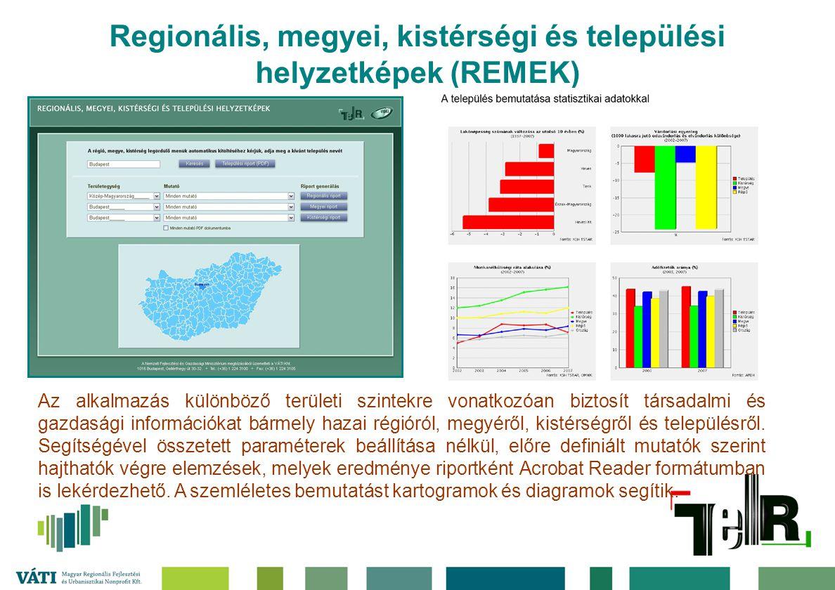 Regionális, megyei, kistérségi és települési helyzetképek (REMEK)