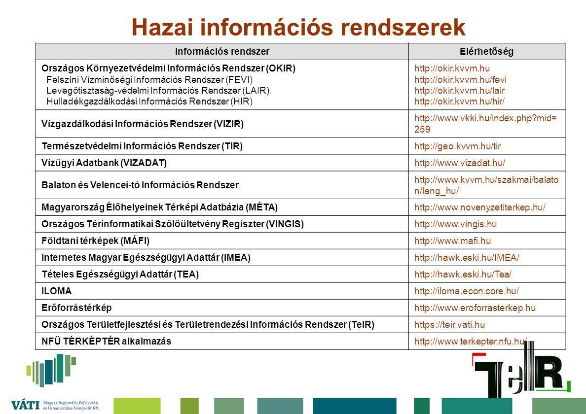 Hazai információs rendszerek