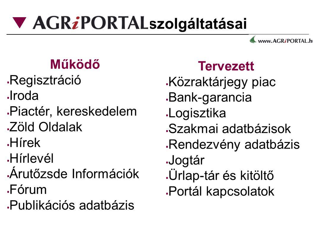 szolgáltatásai Működő Tervezett Regisztráció Közraktárjegy piac Iroda