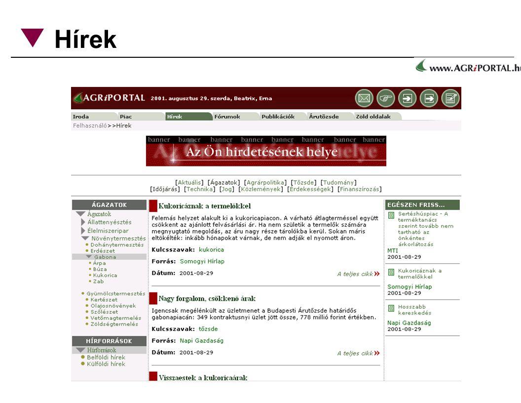 Hírek típusok, kategóriák szerint rendezve publikációs szoftver