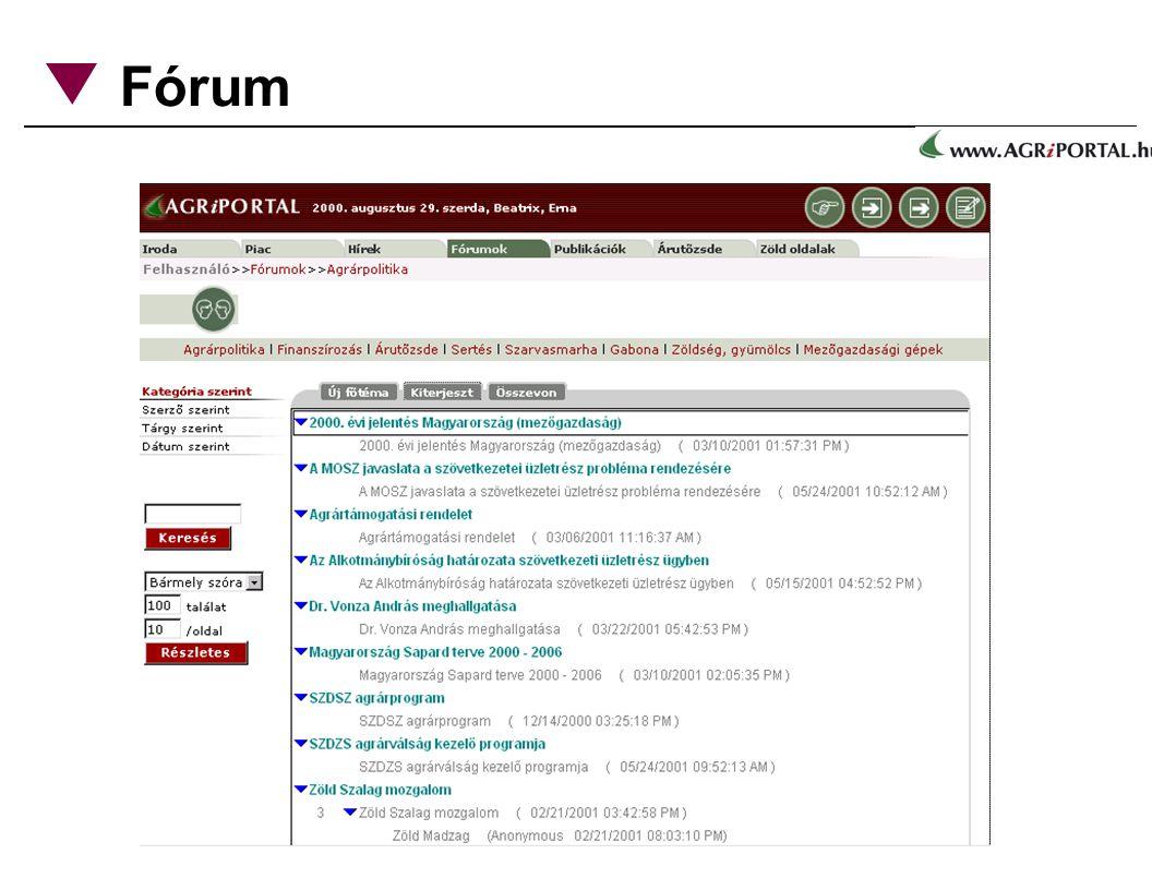 Fórum moderált szakmai fórumok