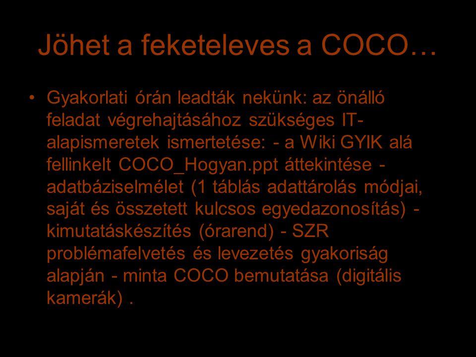 Jöhet a feketeleves a COCO…