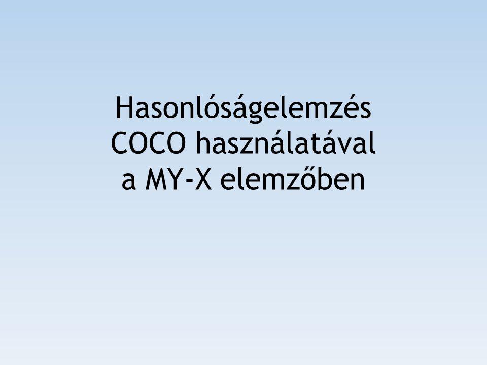 Hasonlóságelemzés COCO használatával a MY-X elemzőben