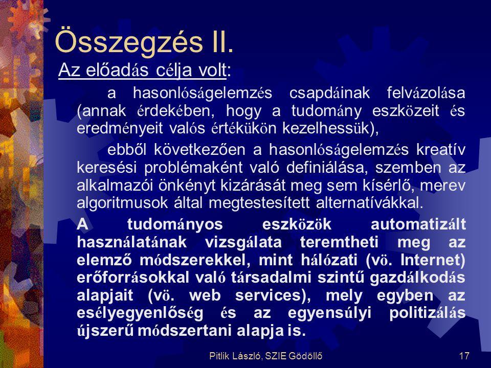 Pitlik László, SZIE Gödöllő