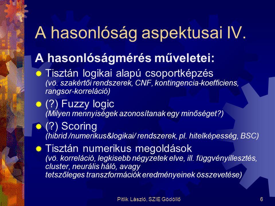 A hasonlóság aspektusai IV.