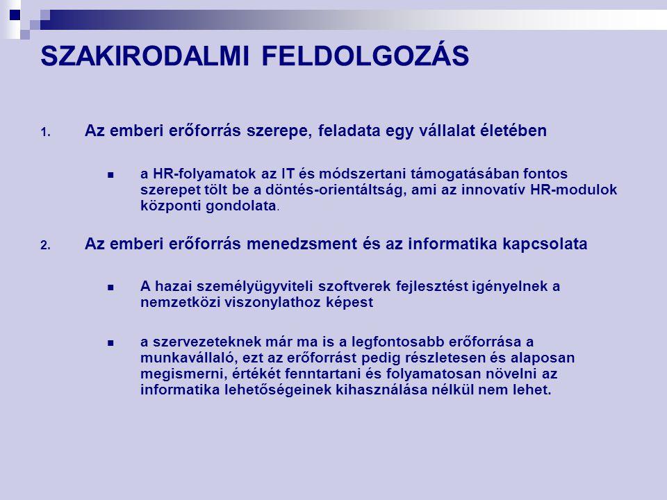 SZAKIRODALMI FELDOLGOZÁS