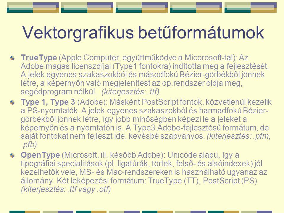 Vektorgrafikus betűformátumok