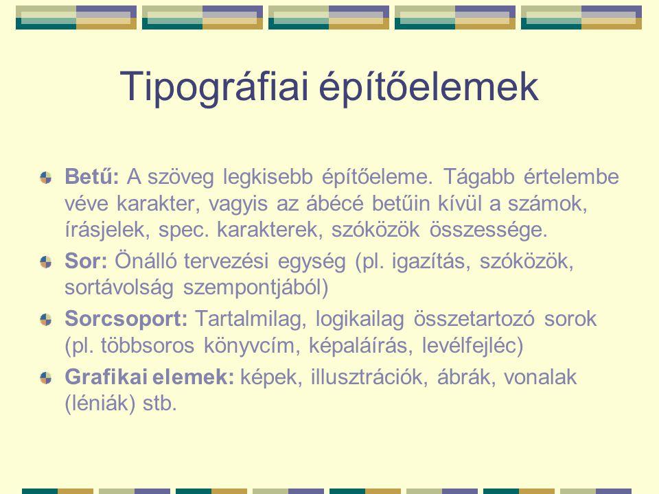 Tipográfiai építőelemek