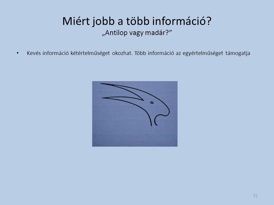 """Miért jobb a több információ """"Antilop vagy madár"""