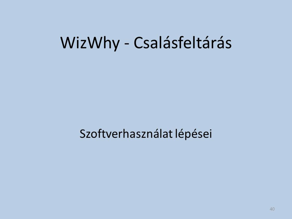 WizWhy - Csalásfeltárás