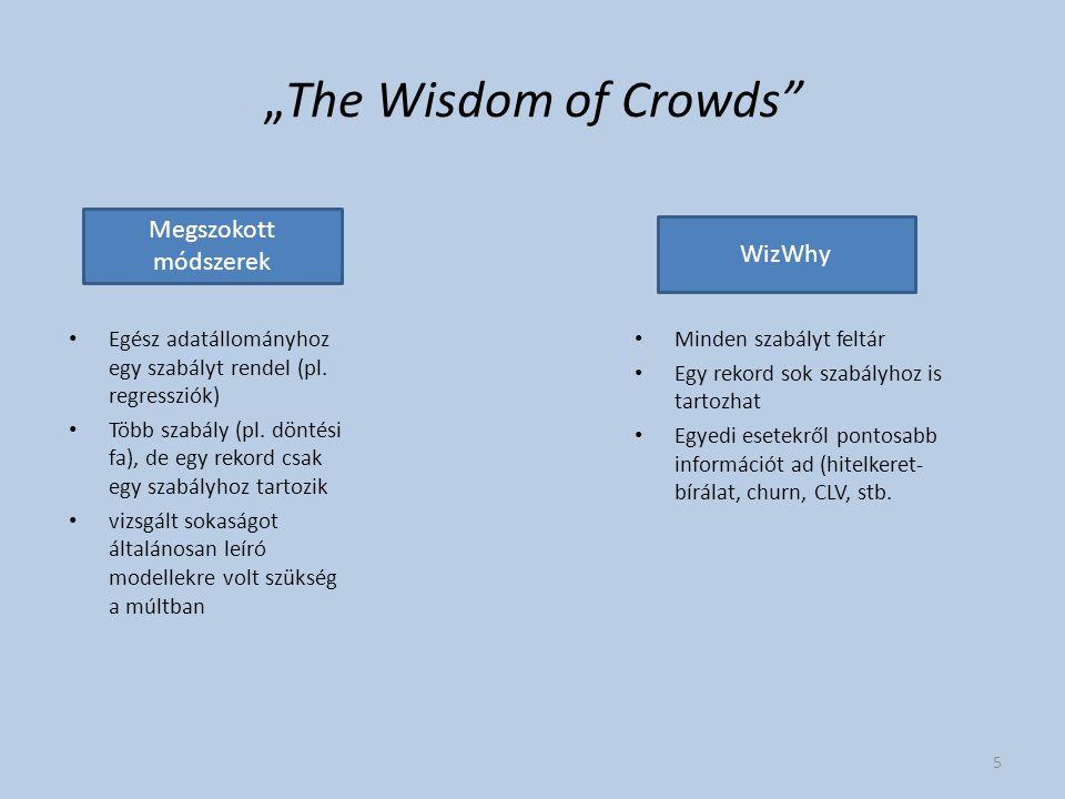 """""""The Wisdom of Crowds Megszokott módszerek WizWhy"""