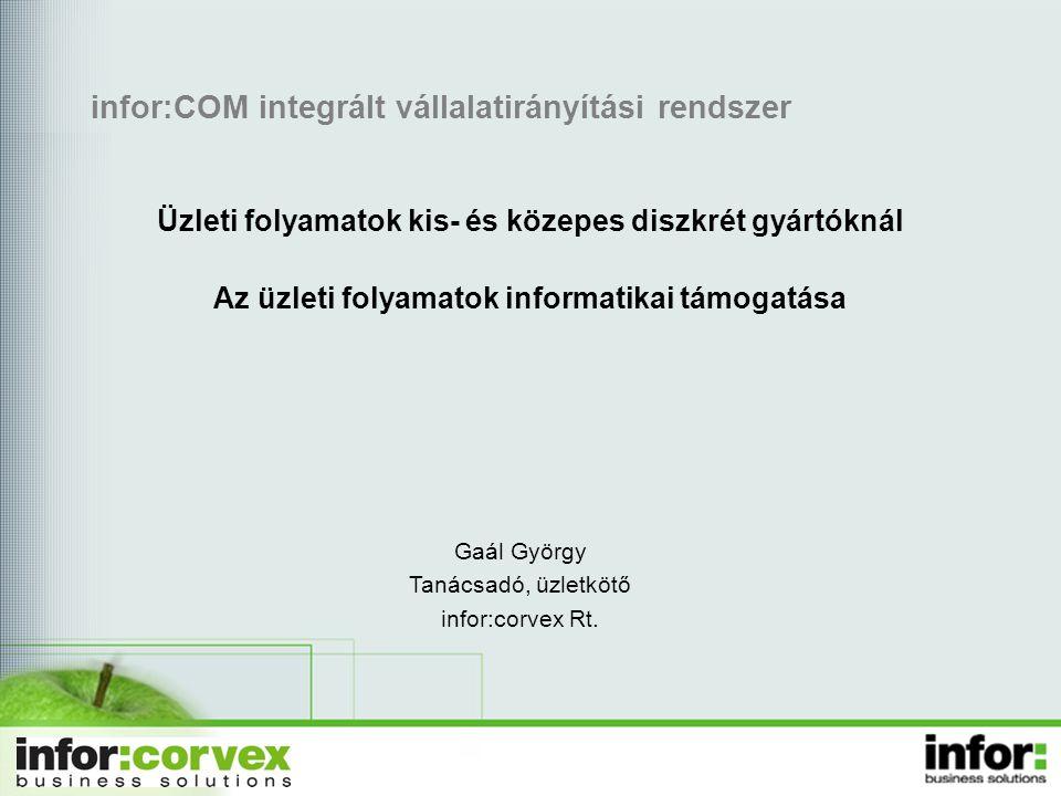 infor:COM integrált vállalatirányítási rendszer