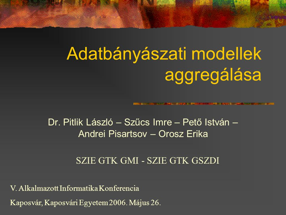 Adatbányászati modellek aggregálása