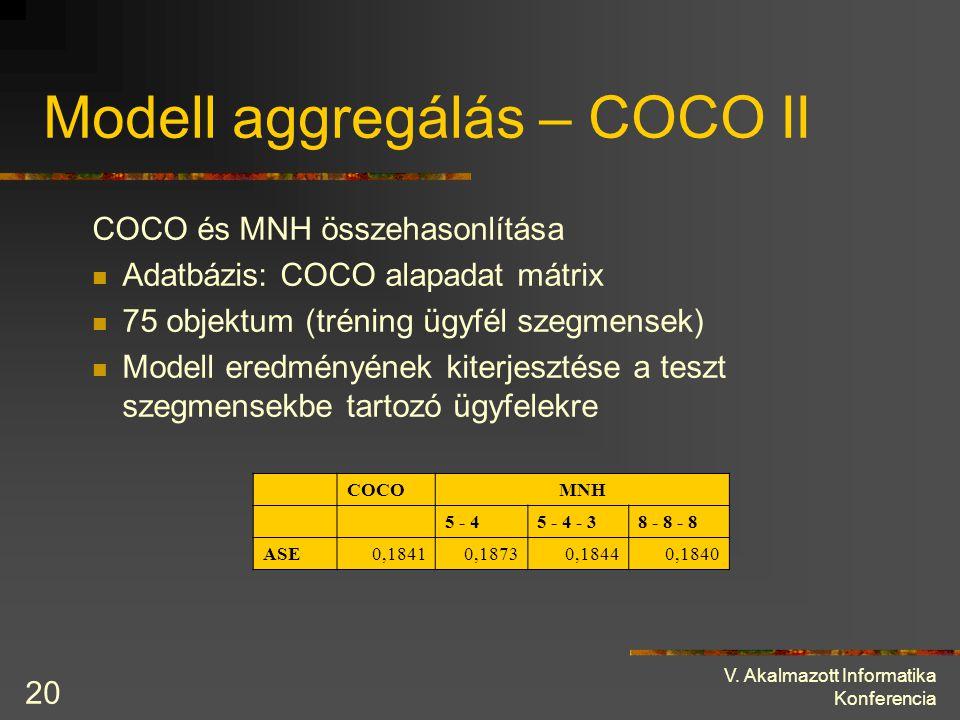 Modell aggregálás – COCO II