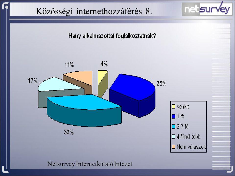 Közösségi internethozzáférés 8.