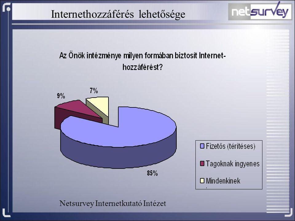 Internethozzáférés lehetősége