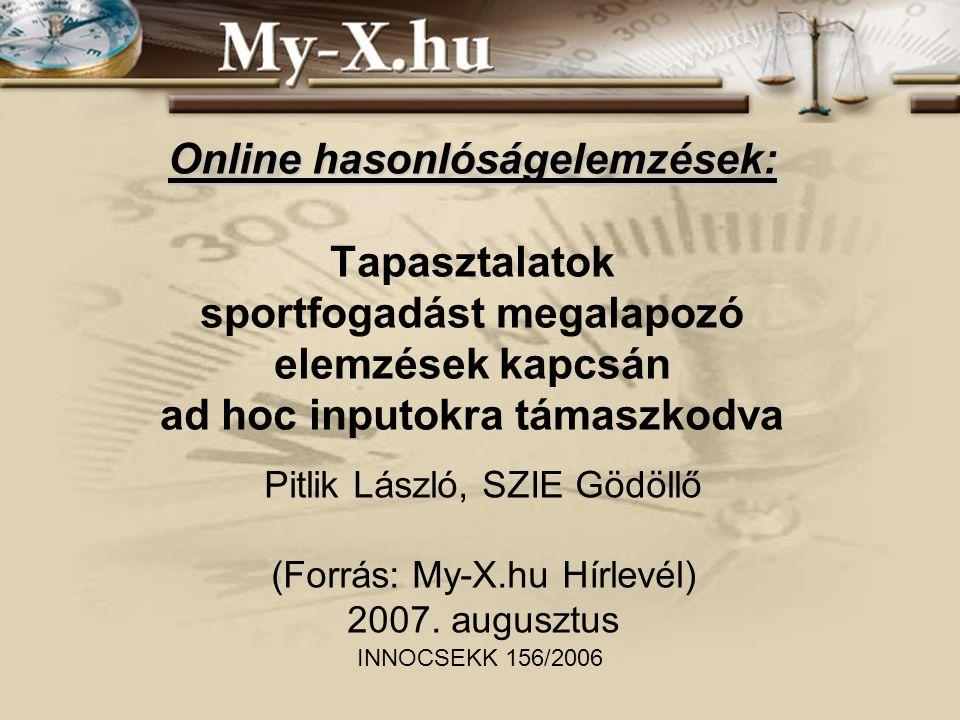 Pitlik László, SZIE Gödöllő (Forrás: My-X.hu Hírlevél) 2007. augusztus