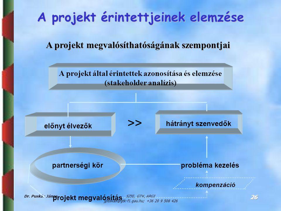 A projekt megvalósíthatóságának szempontjai