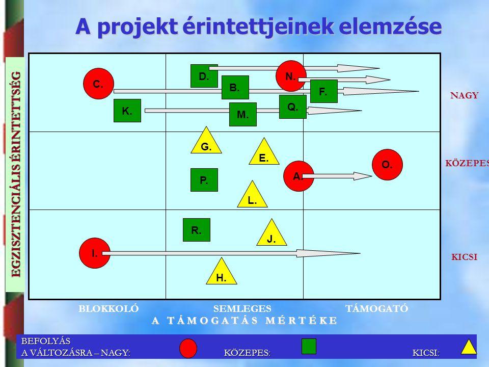 A projekt érintettjeinek elemzése EGZISZTENCIÁLIS ÉRINTETTSÉG
