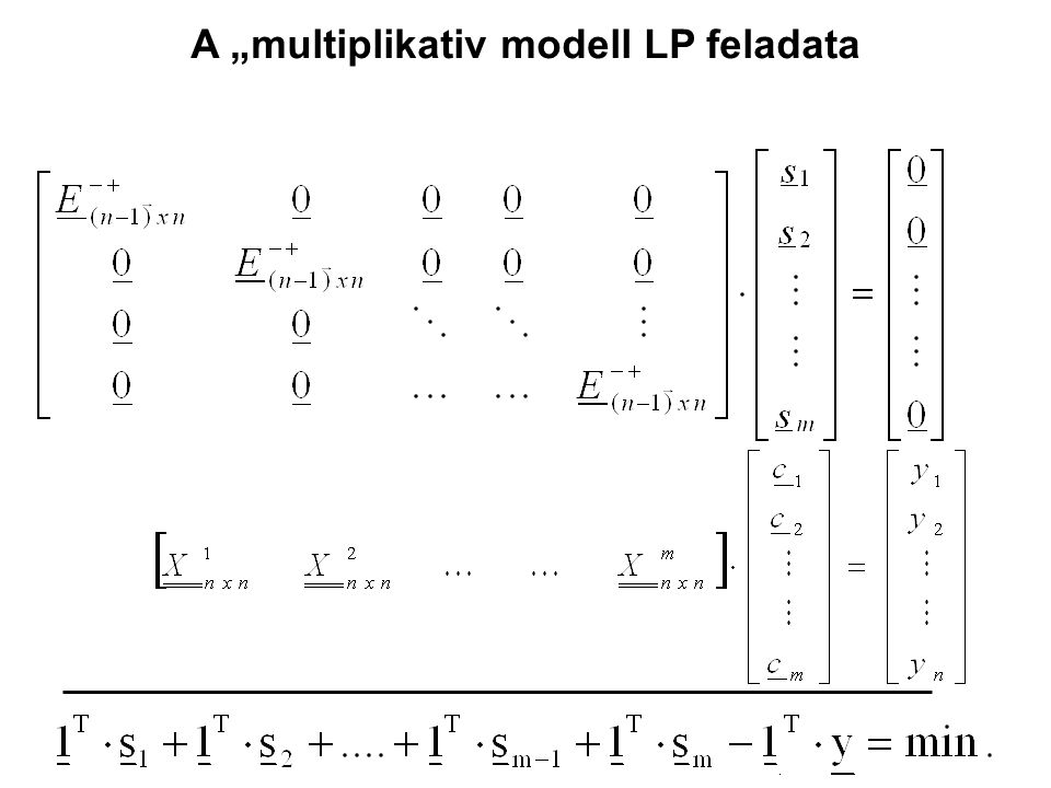 "A ""multiplikativ modell LP feladata"