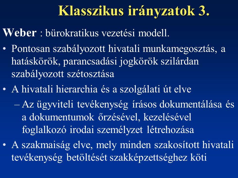 Klasszikus irányzatok 3.